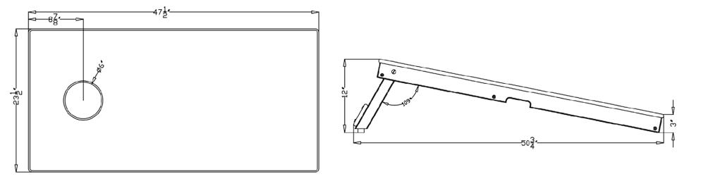 Cornhole Board Dimensions